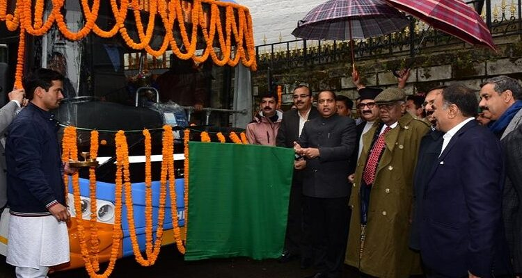 CM Jai Ram Thakur flags off Electric Bus