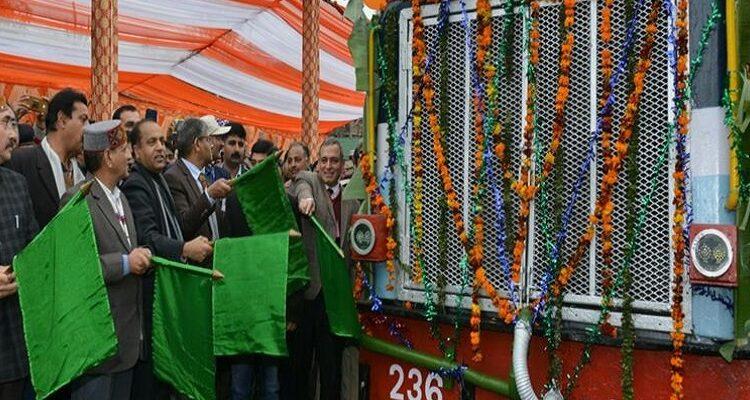 CM flags off express train between Baijnath Paprola-Pathankot