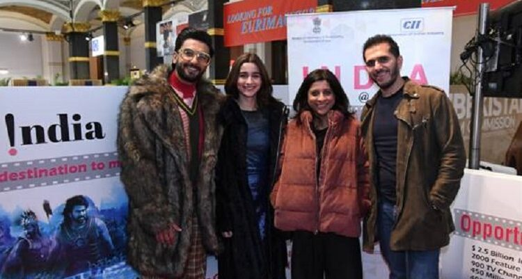 Ranveer Singh and Alia Bhatt visit India Pavilion at Berlinale 2019