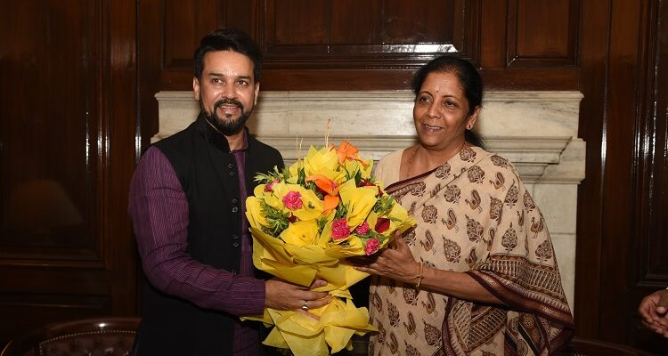 Anurag Thakur Takes Charge As Minister of State for Finance & Corporate Affairs