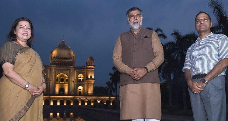 Prahlad Singh inaugurates the architectural illumination of the Safdarjung Tomb