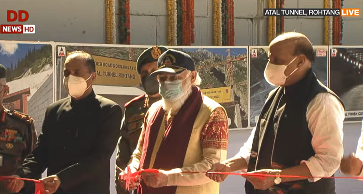 PM inaugurates Atal Tunnel Rohtang